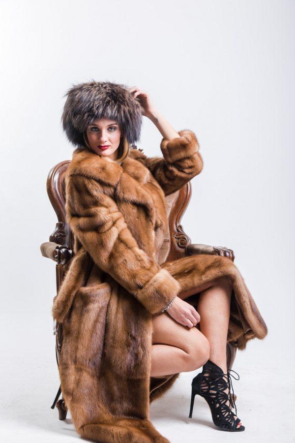 Cappotto Visone maschio Demy-Buff colore selvaggio 04
