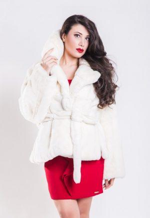 Giacca Rex Rabbit Bianco